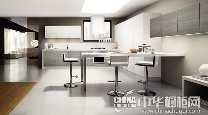 开放式厨房装修效果图 充分利用有限空间