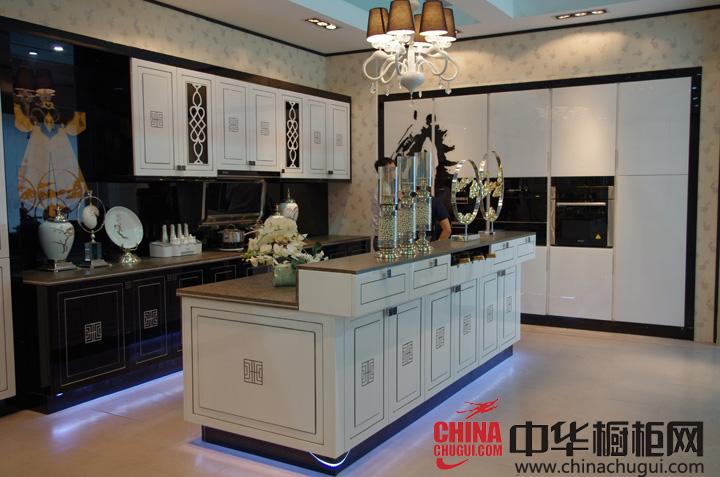 新中式风格橱柜图片 好来屋厨柜效果图