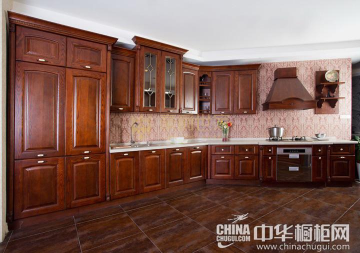 实木的原色 中式风格橱柜图片