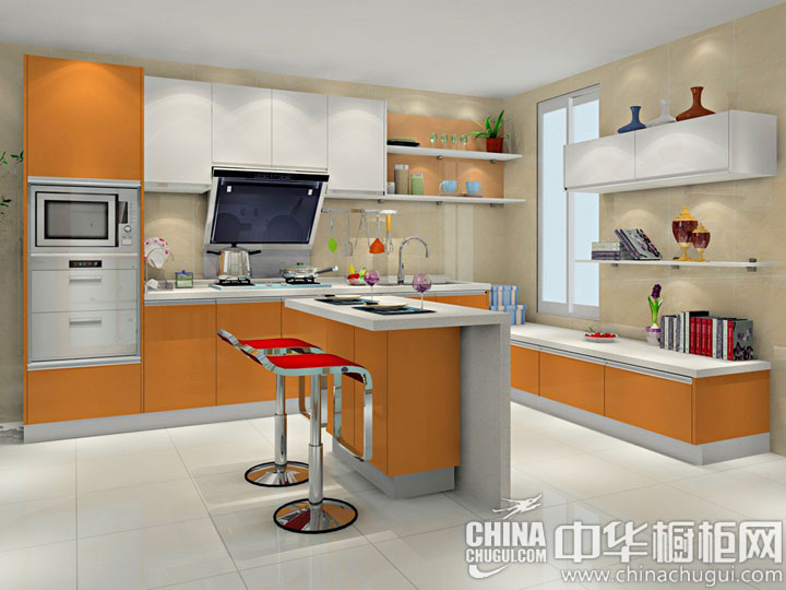 温馨幸福的片段 开放式厨房装修效果图