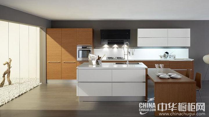厨房生活少一分杂乱 岛型橱柜图片