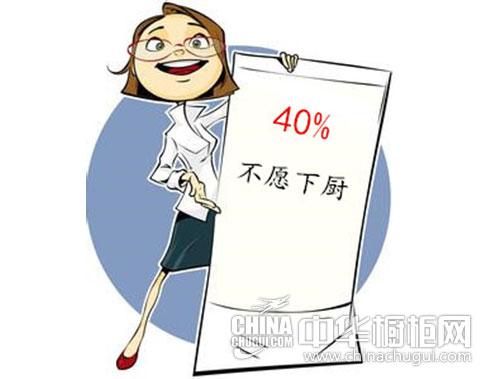 40%女白领不愿下厨 橱柜新消费数据大调查