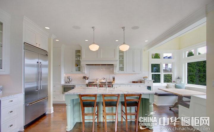大户型厨房装修效果图 简约欧式风格