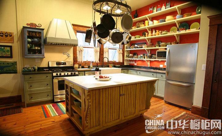 田园风格橱柜效果图  个性而实用的厨房