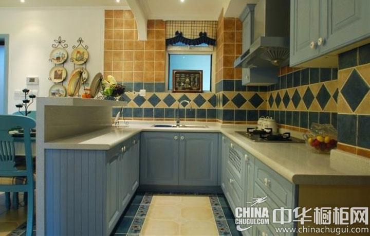 地中海风格橱柜效果图  宜人清新的居室氛围