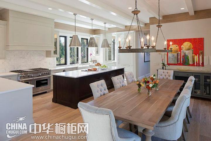 开放式厨房装修效果图 新古典风格的展现