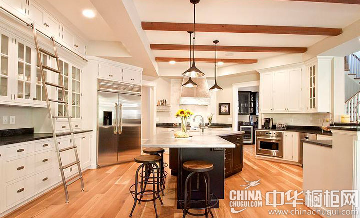 弧形概念厨房 大户型厨房装修效果图