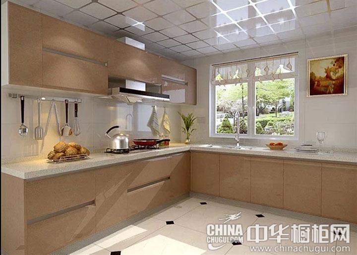 香槟色厨房装修效果图 巧妙的概念设计-中华橱柜网