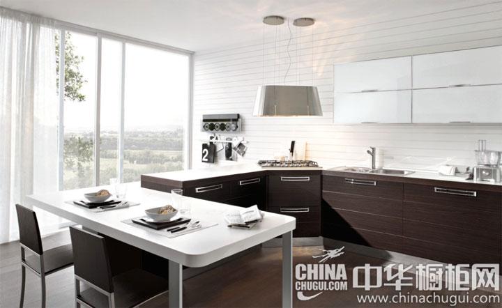 大气从容的厨房 简约风格橱柜图片