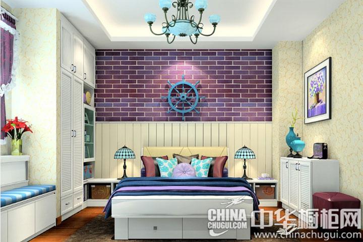 梦幻紫色卧室 衣柜效果图