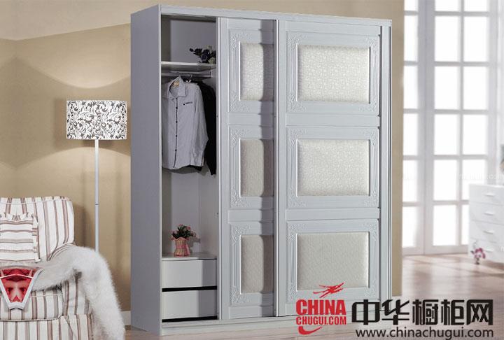 纯美清新的暖白色 整体衣柜效果图