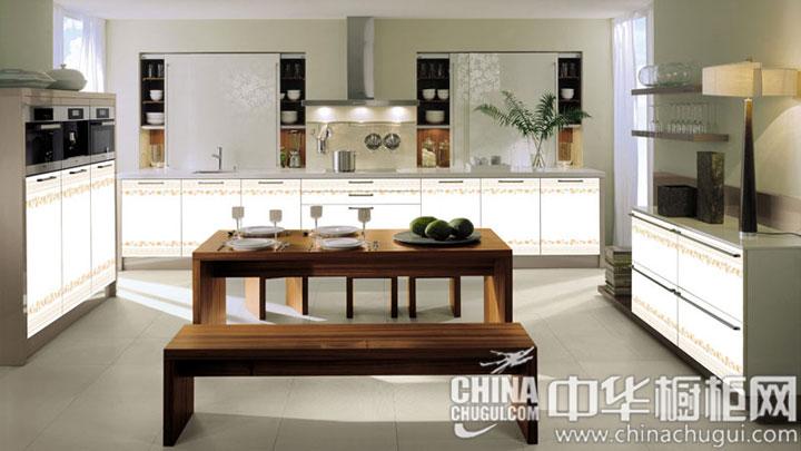 简约风格橱柜效果图 厨房空间开阔而环保