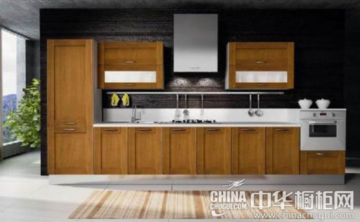 线条虽简但韵味不减 开放式厨房装修效果图