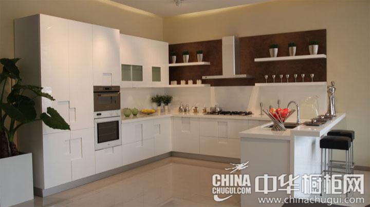 白色厨房也不怕脏 简约风格整体橱柜效果图