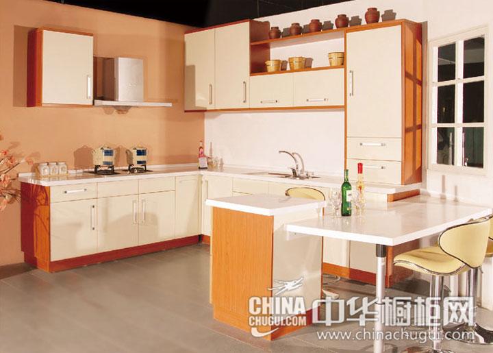 开放式厨房装修效果图 现代乡村感觉的画面