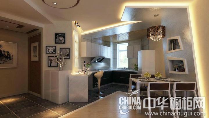 开放式厨房装修效果图 众多经典元素结合