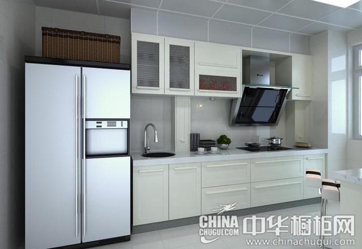 乳黃色調清新淡雅 小戶型廚房裝修效果圖