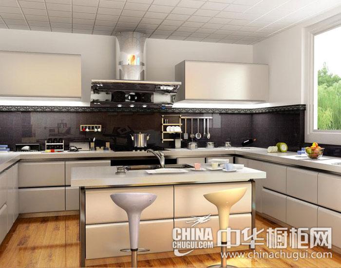 黑白经典厨房写照 现代简约风格橱柜