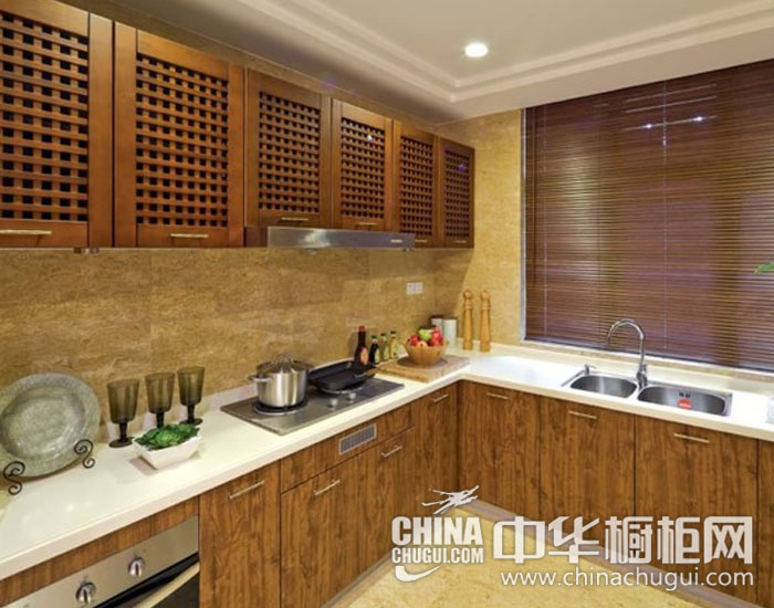 新中式风格橱柜图片    品味温馨厨房