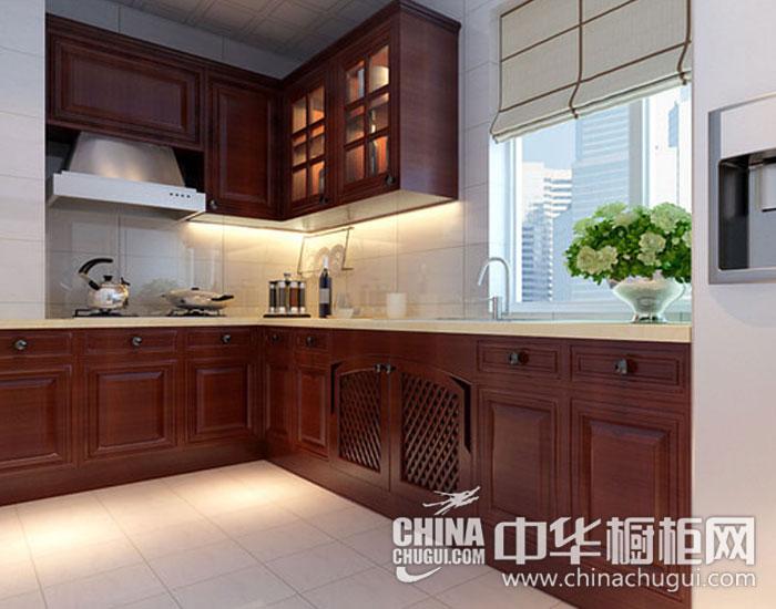 新中式风格橱柜图片    清新木质橱柜