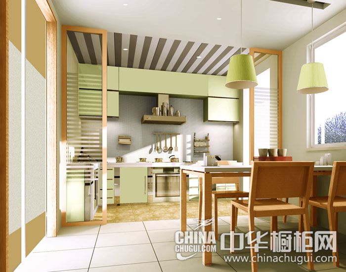 柠檬绿+木色=清新小居 现代简约图片