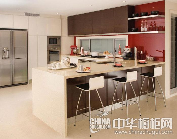 红白橱柜鲜活厨房 现代简约整体橱柜图片