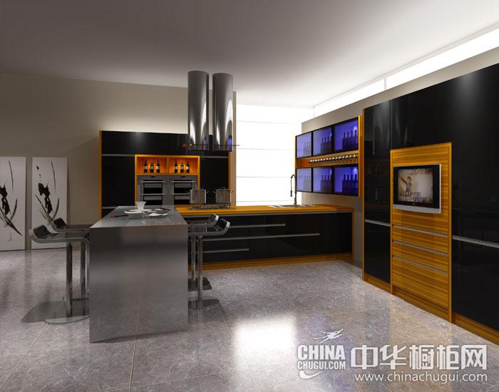 厨房高科技简约美学 现代简约整体橱柜图片