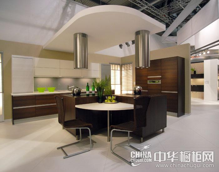 现代简约橱柜效果图 科技智能化厨房