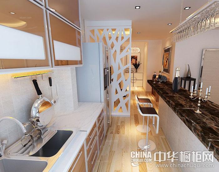 现代简约整体厨房图片 留白的简约美学