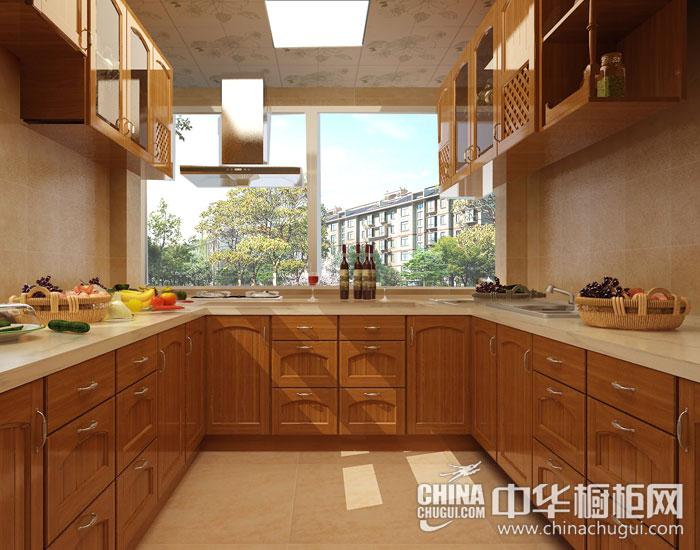 暖棕色温暖厨房 简欧橱柜图片
