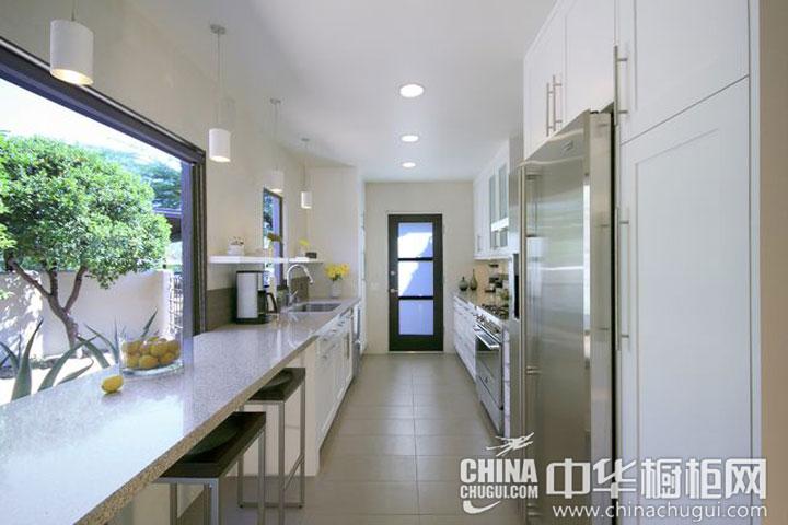 狭长型厨房装修效果图 体会生活的灿烂