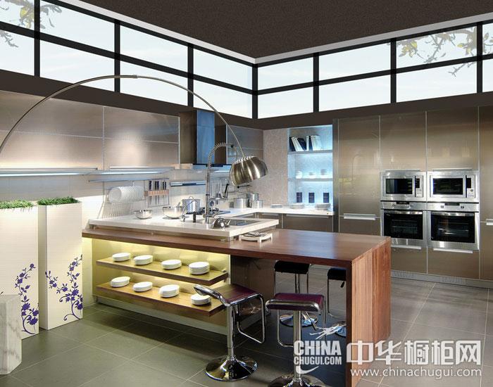 现代简约厨房装修图片 硬气男性厨房搭配