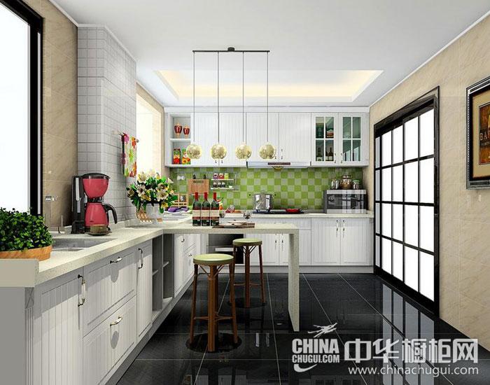 欧式简约橱柜效果图 绿色清新醇美厨房