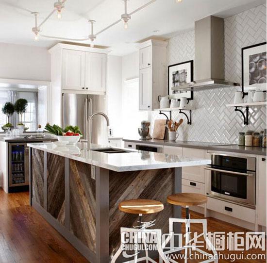 """橱柜创意岛台""""聚""""中心 让厨房烹饪区增色不少"""