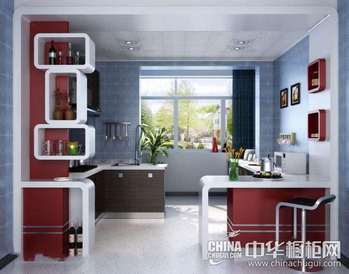 现代简约消费效果图片 蔓越莓红橱柜让你胃口大开