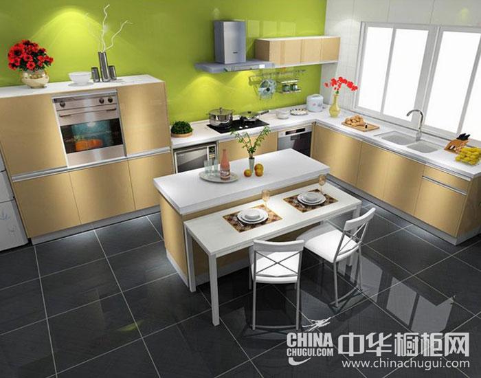 现代简约橱柜效果图片 清新厨房释放烦闷心情