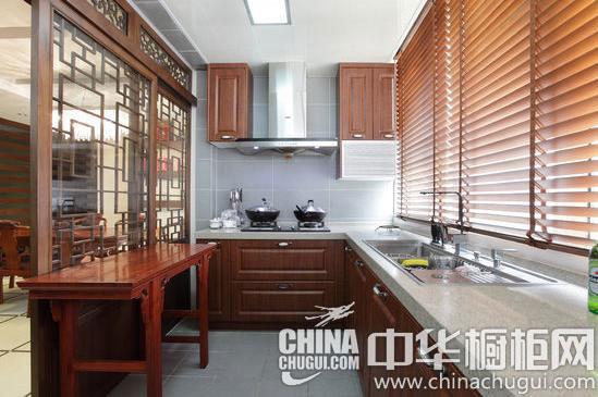 最诗意的东方元素 中式镂空雕花厨房装修案例欣赏