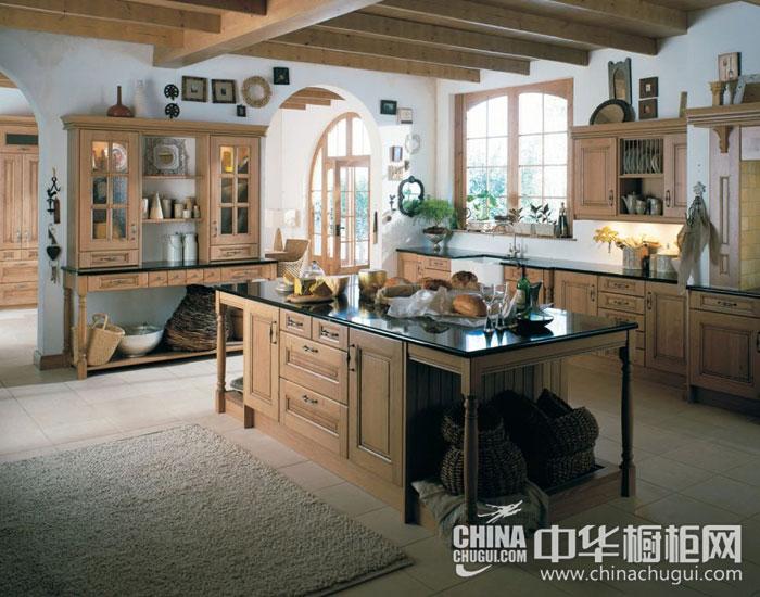 迷人复古乡村风 美式乡村整体厨房装修图片