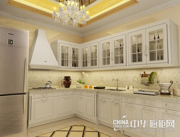 精致档次欧式厨房 欧式风格橱柜效果图