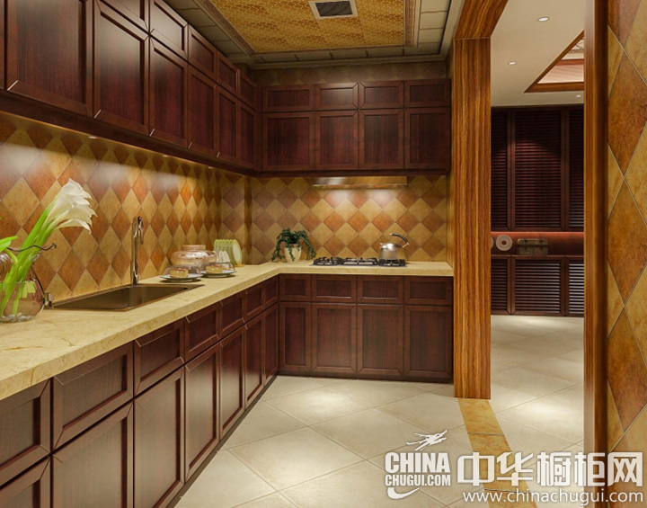 新古典风格厨房装修效果图 独具匠心的设计体验
