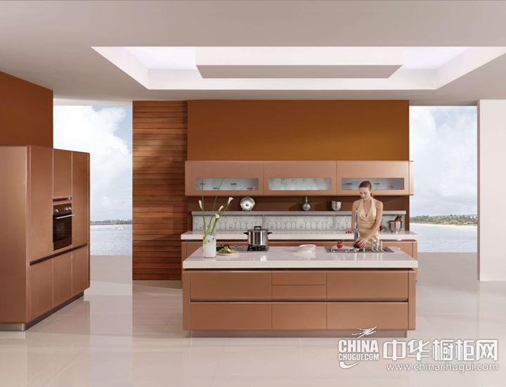 开放式极简住宅 现代简约整体橱柜图片