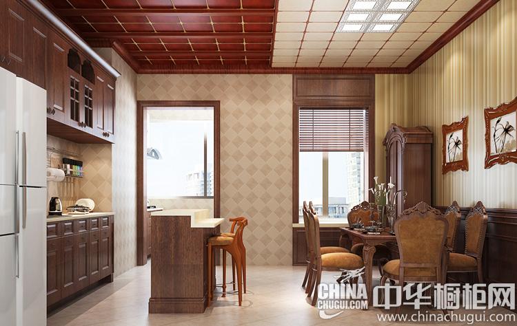 简易餐厨空间 二字型橱柜效果图