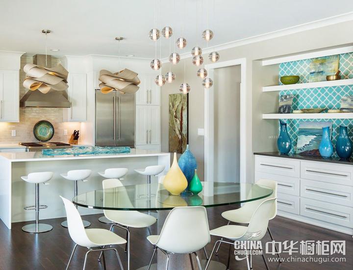 触动灵魂的生活质感 简约岛台厨房效果图片