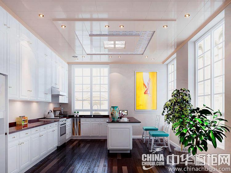 北欧风格橱柜设计效果图 柔媚细腻的烹饪空间