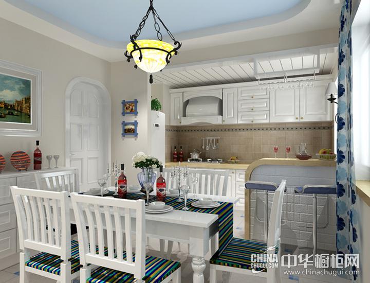 纯美自然住宅空间 地中海风格橱柜效果图