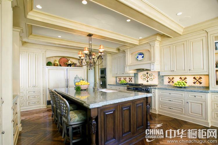 法式厨房装修效果图 民俗艺术的实质体现