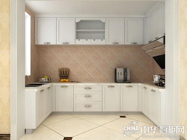 简欧风格U型橱柜图片 淡妆简雅的素颜厨房