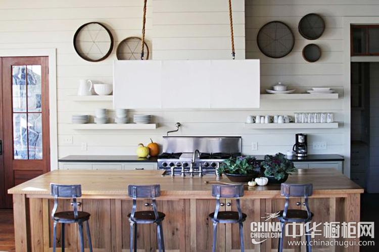 现代风格厨房装修效果图 木质情结塑造清朗文艺感