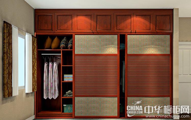 中式衣柜设计效果图 百叶造型增加儒雅氛围