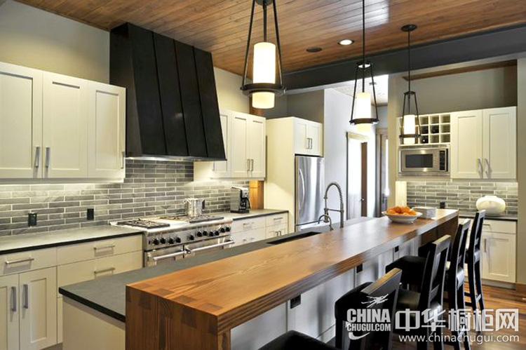 现代风格厨房装修效果图 自然流畅的艺术美感
